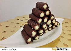 Ořechové trubičky Desserts, Food, Tailgate Desserts, Deserts, Essen, Postres, Meals, Dessert, Yemek