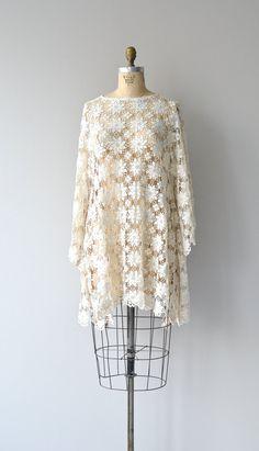 Mystic Shift dress vintage 1960s crochet dress by DearGolden