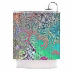 "Alison Coxon "" Indian Summer"" Purple Teal Abstract Shower Curtain - KESS InHouse"