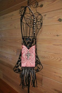 Pink Leather Western Boot Purse by GriffinsCloset on Etsy, $265.00