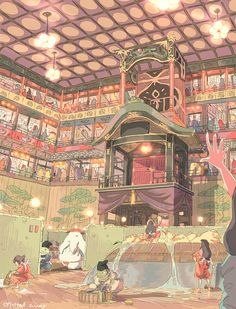 Spirited Away - Studio Ghibli / Hayao Miyazaki Hayao Miyazaki, Studio Ghibli Art, Studio Ghibli Movies, Film Anime, Anime Art, Studio Ghibli Collection, Chihiro Y Haku, Castle In The Sky, Howls Moving Castle