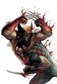 Wolverine vs Wolverine by Leinil Francis Yu