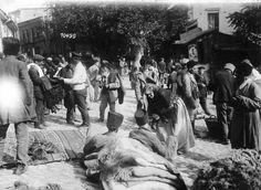 Mercado en Tiflis. Actual Georgia - 1918. Foto gentileza Sr Manuel Gimenez Puig