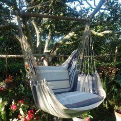 hangstoel XL grijs van Maranon hangmatten. Grote collectie hangstoelen op voorraad. Nu € 99.-