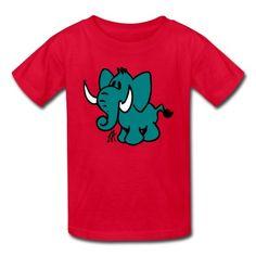 Elephant on a Kid's T-Shirt #Spreadshirt #Cardvibes #Tekenaartje $18.70