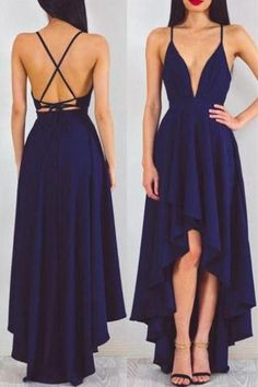 Sexy Prom Dress,A-Line Prom Dresses,Deep V-Neck Prom Gown,Navy Blue Prom Dresses,Chiffon Prom Dress, Charming Evening Dress,Long Prom Dress, Prom Dresses