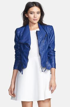 $48, Faux Leather Jacket by BLANKNYC. Sold by Nordstrom. Click for more info: http://lookastic.com/women/shop_items/154508/redirect