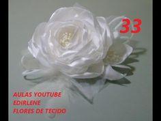 AULA 33: ARRANJO DE FLORES DE TECIDO PARA CABELOS E ROUPAS FESTAS