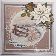 Marianne Design, Winter Cards, Vintage World Maps, Daisy, Frame, Crafts, Handmade, Decor, Hand Made