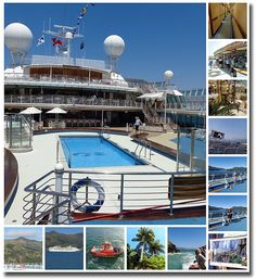 The Dawn Princess Cruise to New Zealand collage of memories on board and off