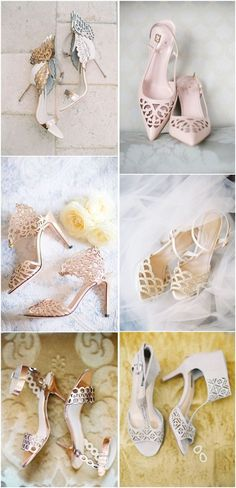 18 Charming   Elegant Laser Cut Wedding Shoes | http://www.deerpearlflowers.com/elegant-laser-cut-wedding-shoes/