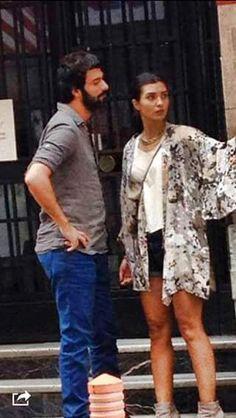 Turkish Actors, Best Tv, Looking Gorgeous, Beachwear, Kimono Top, Bomber Jacket, Handsome, Couples, How To Wear