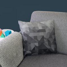 Modern Deco Luxury Cushion — The Shape Studio Luxury Cushions, Rainbow Print, Bespoke Design, Stripe Print, Contemporary, Modern, Pattern Design, Plush, Shapes