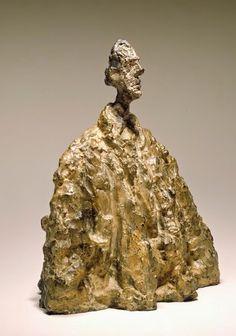 Alberto Giacometti, (Swiss, 1901 – 1966), Diego in a Cloak (Diego au manteau), 1954 Painted bronze