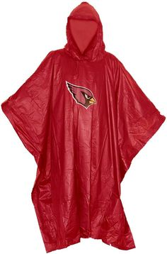 Don't let the rain keep your from supporting your team with the Northwest® Arizona Cardinals Poncho. Rain Poncho Features team logo at center Weatherproof Material Water resistant material keeps you dry Made of clear PE material Additional Details Compact design to fit in pocket, purse or bag Officially licensed by the NFL Rain Poncho, Arizona Cardinals, Atlanta Falcons, Kansas City Chiefs, North West, Team Logo, Compact, Nfl, Rain Jacket