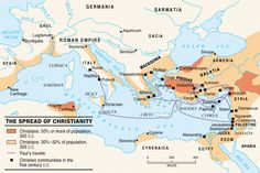 (1-300 CE) Spread of Christianity