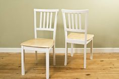 "Jackson Chairs (box of 2) by Dinette Direct. $159.99. Great combo white and natural fits many home decor styles. only $19.99 shipping charges for Fedex Ground Home Delivery. Box of wood dinette chairs - box of two. Solid wood chair frame in white finish with a wood composite seat. Dimensions: 17.5""W x 17""D x 36""H. The Jackson Chairs (box of two) are beautiful dining chairs with style and charm. The chairs are easy to assemble - Hardware and instructions are included. Chairs mat..."