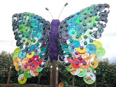 butterfly made from cd's | CD Butterfly