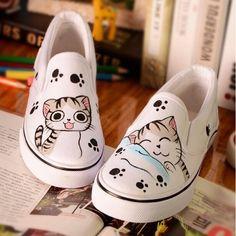 5b713164b Cute Cat Loafer – FreakyPet Katzenschuhe, Kawaii Schuhe, Gestrichene  Leinwandschuhe, Katzenpfoten, Katzenliebhaber