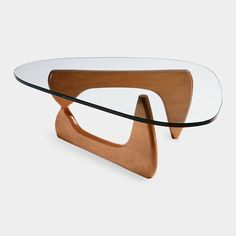 "The Noguchi Coffee Table was originally designed in 1939 as a commission from the president of MoMA. Noguchi modified the design in 1944 to accompany an article by designer George Nelson, entitled, ""How to Make a Table."" This design reflects the biomorphic imagery of Noguchi's contemporary sculpture."