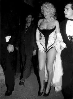 """"""" Marilyn Monroe and Milton Greene at a Madison Square Garden Charity Circus Gala, 1955. """""""