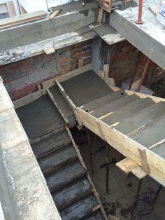 Encofrado de escalera