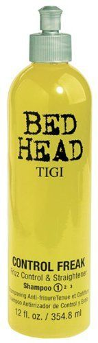 TIGI Bed Head Control Freak Shampoo, Frizz Control and Straightener, 12 Ounce by TIGI. Save 73 Off!. $2.44. The thick lather & rich fragrance of this shampoo empower your presence. It will stomp the curl and fight the frizz. Hair will succumb to your every demand.