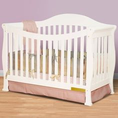 AFG Athena Allie 4 in 1 Convertible Crib - White - FREE SHIPPING