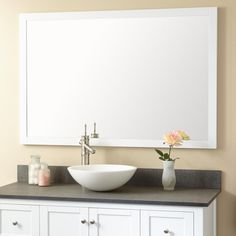 "Bathroom Mirror 60"" $340; 36"" $200"