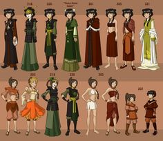 Post with 7883 votes and 315784 views. Tagged with Awesome, ; Shared by ZukoTheFeebleTurtleDuck. Avatar The Last Airbender wardrobe through the entire series. Avatar Airbender, Avatar Aang, Team Avatar, Avatar Cosplay, Katara Costume, Avatar Costumes, Arte Ninja, Avatar World, Ty Lee