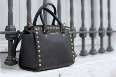 Michael Kors studded tote - I got pretty much an identical bag (without the MK label) at TJ Maxx for just $34!