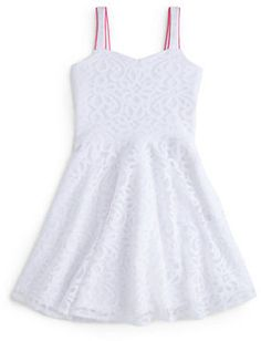 A Sally Miller dress that has white lace all around with a white background and ruffles on the bottom half. A Sally Miller dress that has white lace all around with a white background and ruffles on the bottom half. A Sally Miller Tween Fashion, Dope Fashion, Fashion Outfits, Confirmation Dresses, Sally Miller, Super Cute Dresses, Cutout Dress, Casual Street Style, Girls Dresses