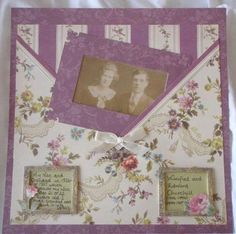 How to Make Scrapbook Pockets   The frame has been made from the same scrapbook paper and the picture ...