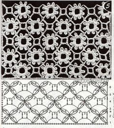 Pattern doesn't look like the finished work, but both are interesting.