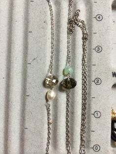 Chain #13. For Shannon D. Crystals and pearls  #YbyHY