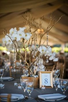 would like to alternate centerpieces in the reception hall- some tall floral centerpieces and some with something different- gold candleabras? candles of different sizes? small floral arrangements with candles around them?  open to ideas...