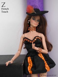 Z French Touch - Exclusive Outfits for Integrity Fashion Royalty and dolls - Doll high-quality clothes by French Designer - Custom fashion for collectors' fashion dolls Barbie Halloween, Halloween Fashion, Halloween Outfits, Beautiful Dolls, Beautiful Outfits, Beautiful Clothes, Fashion Royalty Dolls, Fashion Dolls, Really Long Hair