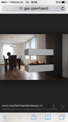 Gashaard Fireplace Update, Home Fireplace, Modern Fireplace, Fireplace Design, Floating Fireplace, Home Interior Design, Interior Decorating, Foyers, Dining Room Design