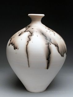 Charlie and Linda Riggs Horsehair Vase at MudFire Gallery - Atlanta, Georgia