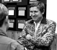 Johnny all smiles as he wears a jacket no one else would be caught dead in. Photo from stripes.com.
