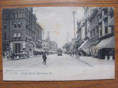 1910 MARKET STREET HARRISBURG PA. POSTCARD