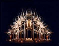 Frank Lloyd Wright Student - E. Fay Jones designs | Fay Jones and his Ethereal Pinecote Pavilion - Known for his beautifal chapels and structures in natural surroundings