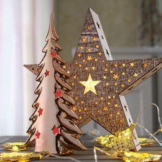 Avec étoile en bois LED ornée d'un hologramme 4523421