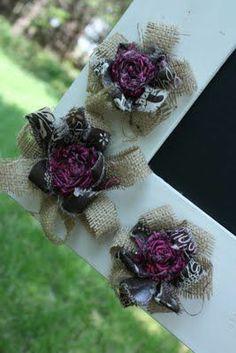 Burlap Flowers- DIY