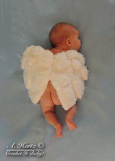 Ravelry: Crochet Angel Wings Photo Prop Pattern - NB pattern by Crochet It Baby