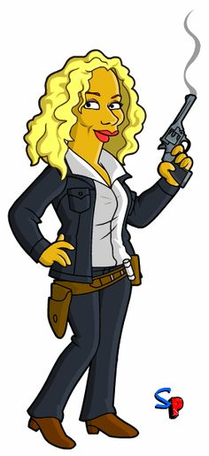 River Song as a Simpsons character