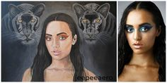 girl with black panther , more ? www.jeepee-aero.artistwebsites.com