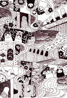 Matryoshka postcards from 'minne handmade'