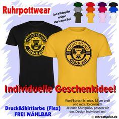 T-Shirt  Dortmund Glück auf  individuell gestaltbar mit Flexdruck Ruhrpott