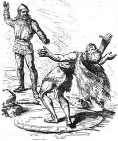 Thor battles Hrungnir